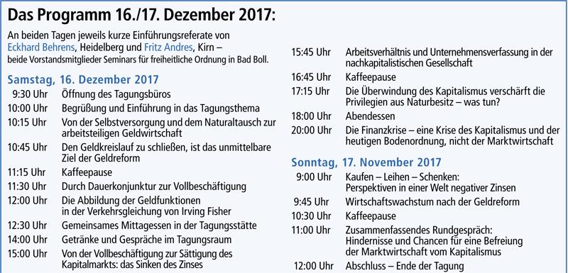Programm Dezember 2017