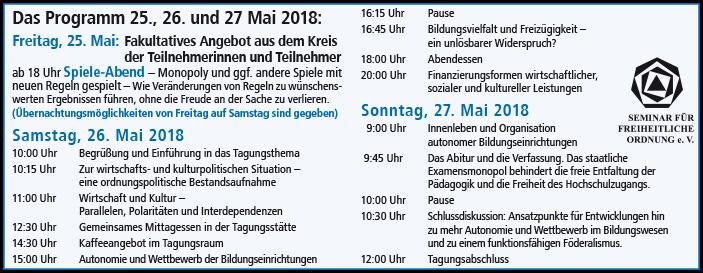 Programm Mai 2018